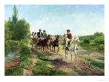 Hungarian Peasants Going to a Dance Giclée-Druck von Fritz van der Venne