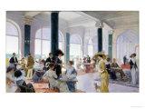 Afternoon Tea, c.1910 Giclée-Druck von Rene Lelong