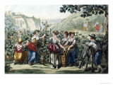 The Grape Harvest Giclee Print by Bartolomeo Pinelli