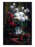 Red and White Roses Reproduction procédé giclée par Frans Mortelmans