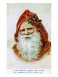Père Noël Reproduction procédé giclée