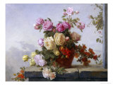 Still Life of Roses Giclee Print by Paul Claude Jance