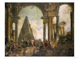 Capriccio of the Ruins of Rome Giclee Print by Giovanni Paolo Pannini