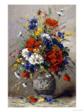 Vase of Summer Flowers Giclee Print by Eugene Petit