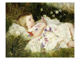 Picking Posies Giclee Print by William Blake Richmond
