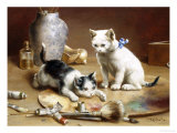 Playful Kittens Giclee Print by Carl Reichert