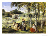 Rest from Haymaking Lámina giclée por Thomas Falcon Marshall