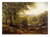 Near Weybridge, Surrey Giclee Print by Edmund G. Warren
