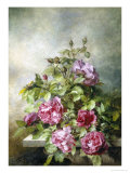 Romantic Roses Giclee Print by Claude Massman