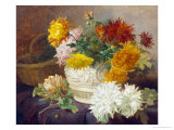 Still Life of Chrysanthemums Giclee Print by Eloise Harriet Stannard