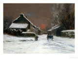 Langside, Winter, c.1879 Giclee Print by James Macmaster