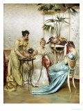 Tea Time Tales Reproduction procédé giclée par Joseph Frederic Soulacroix
