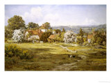 View of Fittleworth, Sussex Giclee Print by Edward Wilkins Waite