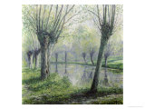Spring Willows on the Riverbank Reproduction procédé giclée par Rodolphe Wytsman