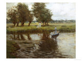 Afternoon on the River Giclee Print by Hilda Fearon