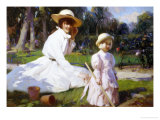 Her Own Garden Gicl&#233;e-Druck von John Richard Townsend