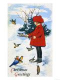 Noel Tebrikleri - Giclee Baskı