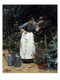 In the Rose Garden Giclee Print by Victor Gilbert
