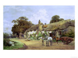 Loading Straw Giclee Print by Henry Sykes