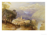 View of Lake Como Giclee Print by Thomas Miles Richardson