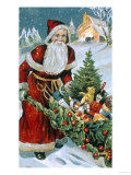 Bright and Merry Christmas Giclee Print