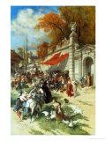 Carousing Soldiers Giclee Print by Emile Antoine Bayard