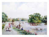 View of Richmond-on-Thames Giclee Print by Walter Duncan