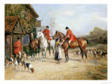 Outside the Three Crowns Giclee Print by Heywood Hardy