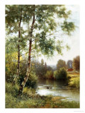 Landscape near Sonning on Thames Giclee Print by Ernest Parton