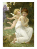 Cupid and Venus Giclee Print by Guillaume Seignac