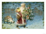 Here Comes the Christmas Tree Giclee Print