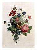 Bouquet de Rose et Lily de the Valley Impression giclée par Jean Louis Prevost
