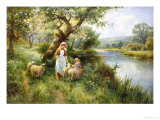 Friendly Greeting Giclee Print by Ernest Walbourn
