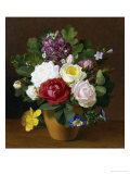 Still Life of Summer Flowers Giclee Print by Otto Didrik Ottesen