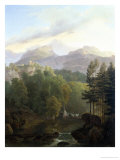 Alpine Landscape Giclee Print by Wolfgang-adam Topffer