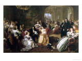 King Charles Ii of England's Last Sunday Giclee-trykk av William Powell Frith