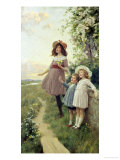 Listening to the Lark Reproduction procédé giclée par Percy Tarrant