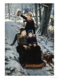 Jolly Sleigh Ride, c.1884 Giclee Print by Frans De Wilde