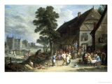 Village Fair Giclee Print by David Teniers The Elder