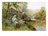 The Mill Stream Giclee Print by Ernest Walbourn