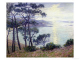 Pine Trees at the Seashore Giclee Print by Paul Madeline