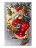 Here Comes Father Christmas Giclee Print