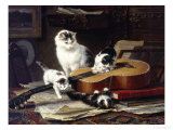 The Musical Cats Giclee Print by Henriette Ronner-Knip