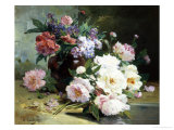 Still Life of Beautiful Flowers Giclee Print by Eugene Henri Cauchois