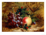 Christmas Fruit and Flowers Giclee Print by Charles T. Bale