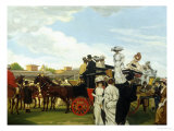 Day at the Races, Longchamps Giclee Print by Tony Minartz