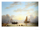 Ferry Leaving the Shore Giclee Print by Jacobus Nooteboom