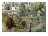 Potato Digging in the Kitchen Garden Giclee Print by William Small