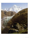 View of the Gorner Glacier and Zermatt Valley Giclee Print by Francois Roffiaen