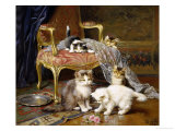 Mischief Makers Giclee Print by Leon Charles Huber
